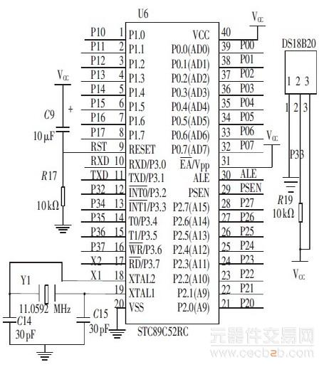 由微控制器输出的信号经过三极管构成的开关电路送往tlp521 -4 光耦