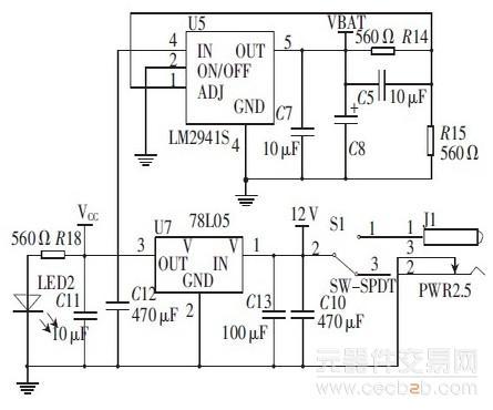 电源连接电路图