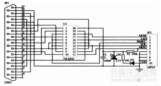 图三固件程序下载电路