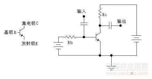 我们仅以npn三极管的共发射极mtd2002放大电路为例来