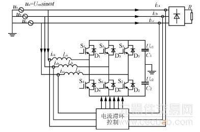 三相四线并联型有源电力滤波器的结构与工作原理
