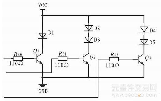 电路中运用了热释红外专用芯片BISS0001。它是由运算放大器、电压比较器、状态控制、延迟时间定时器以及封锁时间定时器等构成的数模混合专用集成电路,内部电路如图3 所示。当人体辐射的红外线通过菲涅尔透镜被聚焦在热释电红外传感器的探测元上时,电路中的传感器将输出电压信号,然后使该信号先通过一个带通滤波器,该滤波器的上限截止频率为16 Hz,下限截止频率为0.