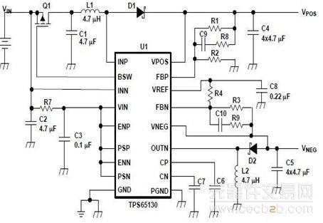 单颗组件同时提供正电压和负电压