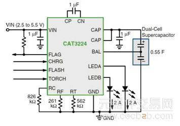 电流放电至led闪光的管理