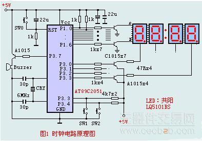 基于单片机at89c2051的时钟电路解决方案