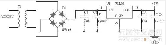 电路的工作电压为5v,继电器线圈电压为5v,同时考虑成本和抗干扰性能