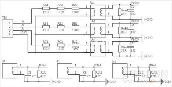 电压采样和电流采样电路图