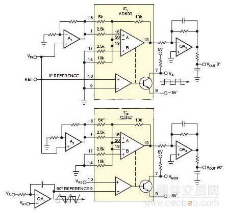 t型双稳态多谐振荡器ic3产生一个信号,频率为基准信号的两倍.