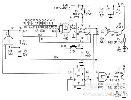 使控制双稳态多谐振荡器复位;或者