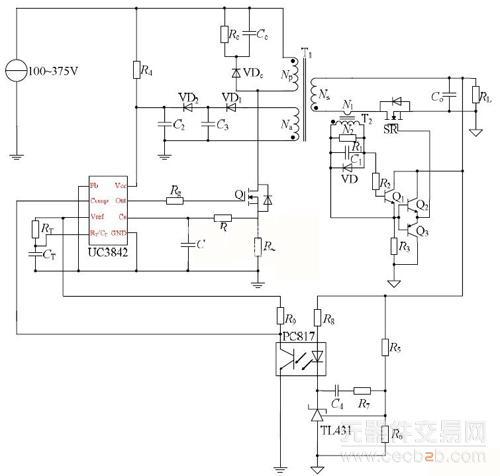 3842反激电路图
