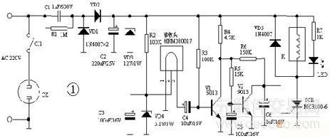能实现自锁功能的单向可控硅应用于红外遥控开关电路设计方案