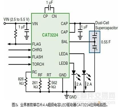 电流放电至led闪光的管理,以及为led手电筒模式提供恒流.