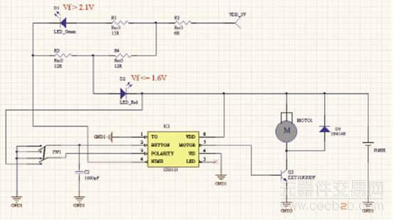 sx8121的马达驱动电路应用设计