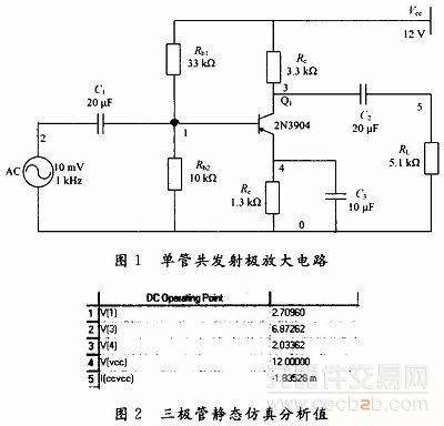 结合电子技术课程中典型电路对multisim应用说明方案