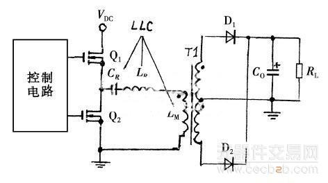 图1 半桥lcc谐振转换器基本结构
