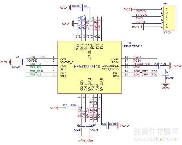 图4 无线传输模块电路