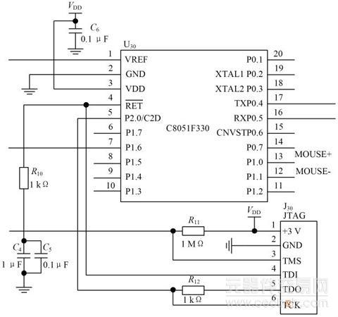 针对反射式脉搏波光电传感器所采集的信号特点,设有脉搏波信号模/数