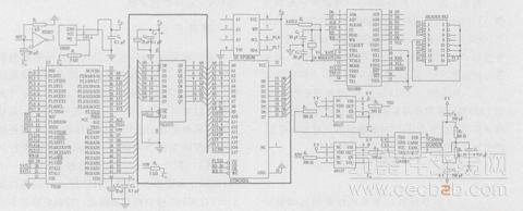 指令和数据传输到led显示电路,16针排线(2)用于多个显示屏幕的级联,它