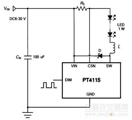 图2 led射灯驱动电路