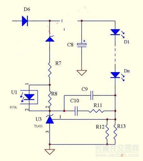1, 单个tl431恒流电路