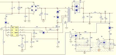 图1 fan6754a 电路原理图