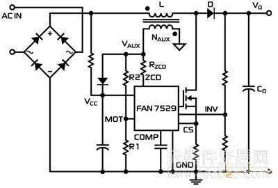 图3 转换模式pfc的电压模式控制应用框图
