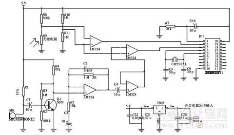 图4智能控制器电路图