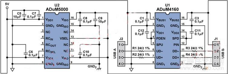数字隔离器对usb实现隔离的工作方式解析