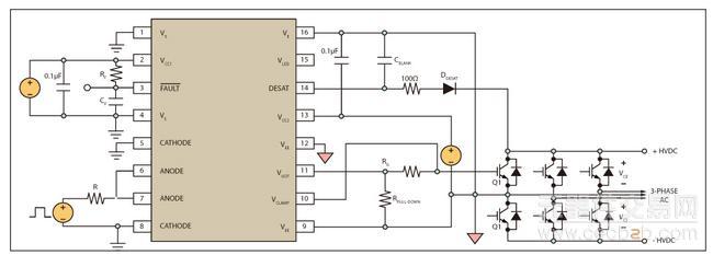 或是栅极驱动电路中的零件问题而造成,在去饱和情况下,igbt的电流与