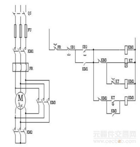 器联锁(电气)的双重联锁正反转控制线路(如下图所示)