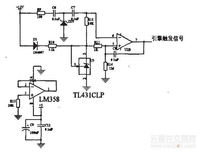 图1引擎触发信号采样电路