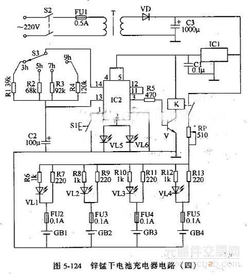 四位t型电阻dac电路图