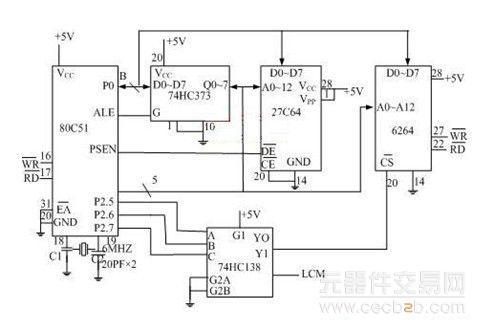 sram最小系统电路图