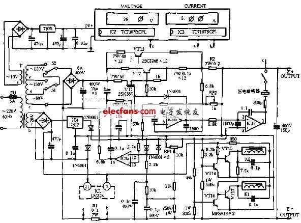 基于lm324的直流稳压电源电路图