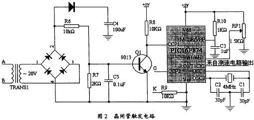 3 测速电路设计     测速电路由附着在电机转子上的光码盘及电脉冲