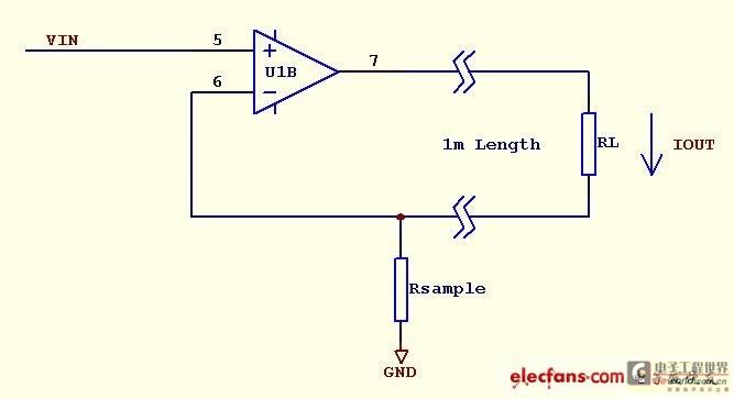 运放电流采样电路