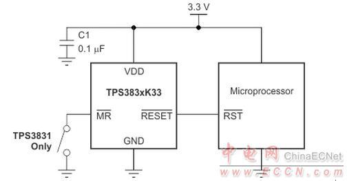ti推出tps3831和tps3839超低电流电压监控电路