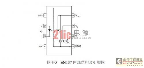 6n137内部结构及引脚图