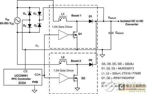 半无桥式pfc预整流器与其电路拓扑